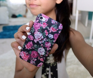 case, floral, and iphone image