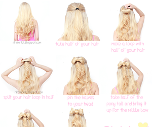 hair, tutorial, and bow image