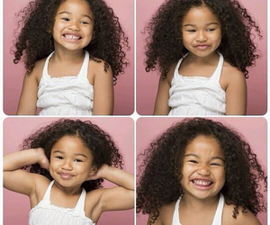 curly hair, blasian, and kids image
