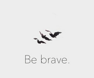 be brave, be strong, and swallows image