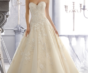 ball gown, crystal, and dresses image