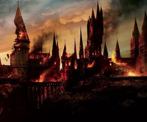 hogwarts, harry potter, and potter image