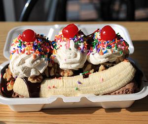 food, banana, and ice cream image