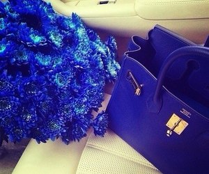 luxury, bag, and flowers image