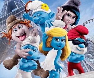 smurfs and blue image