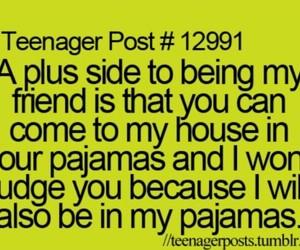 pajamas, friends, and friendship image