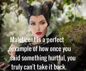 maleficent, disney, and quote image