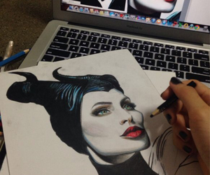 maleficent and draw image