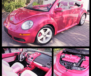 pink, car, and barbie image