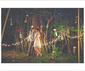 couple, swing, and wedding image
