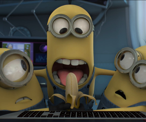 minions, cute, and banana image