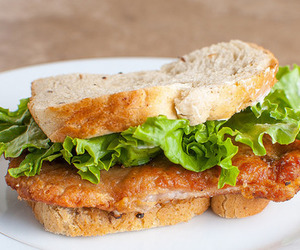 food, bread, and sandwich image