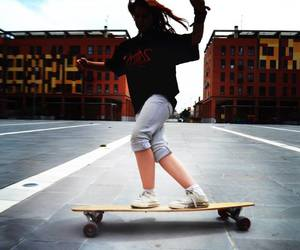 dance, longboard, and ride image