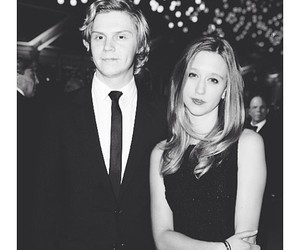 couple, evan peters, and taissa farmiga image