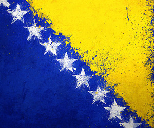 flag, soccer, and bosnia and herzegovina image