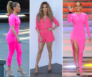 Jennifer Lopez, look, and pink image