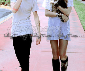 *-*, miley cyrus, and justin bieber image