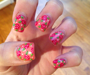 acrylic, flowers, and nail art image
