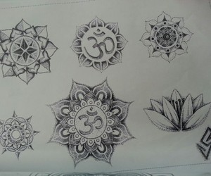 chakra, Ohm, and tattoo image