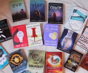 book, divergent, and john green image