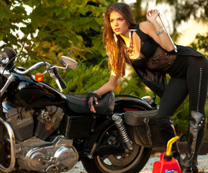 motorcycle and marie avgeropoulos image