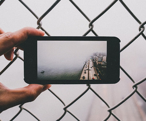 city, iphone, and hipster image