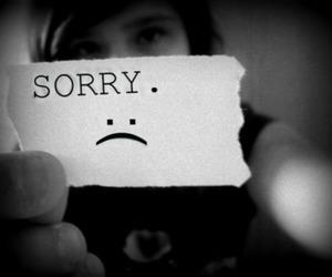 sorry, sad, and girl image