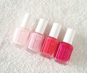 pink, nails, and essie image