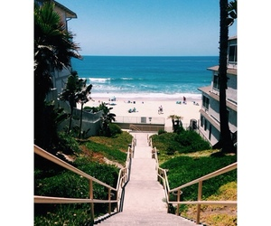 beach, San Diego, and stairs image