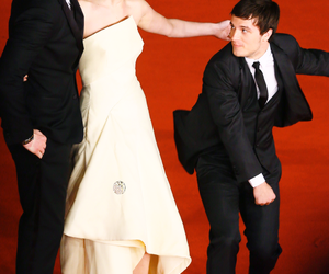 Jennifer Lawrence, liam hemsworth, and josh huchterson image