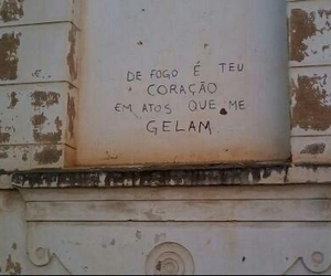love, fogo, and frases image