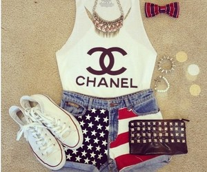chanel, fashion, and outfit image