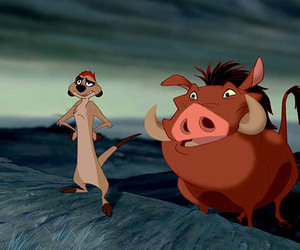 bff, pumbaa, and disney image