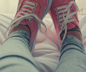 vans, girl, and pink image
