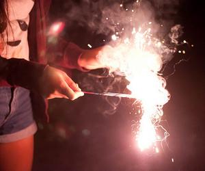 light, hipster, and fireworks image