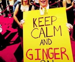 ginger, rupert grint, and keep calm image