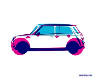 artwork, car, and colors image