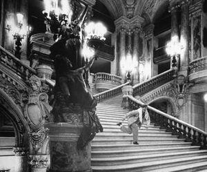 black and white, paris, and opera garnier image