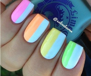 nails, colors, and pretty image