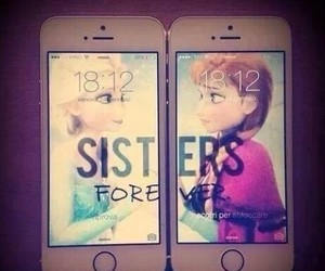 sisters, frozen, and forever image