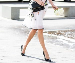 fashion, floral dress, and style image