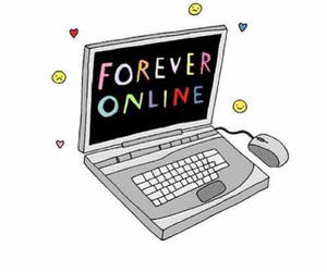 online, forever, and computer image
