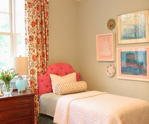 girl, pink, and beautiful bedroom image