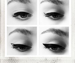 beauty, diy, and eyeliner image