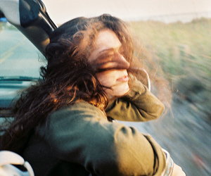 girl, free, and wind image