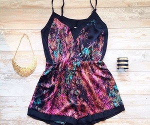 girly, romper, and cute image