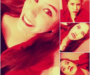 girl, red, and retrica image