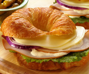 cheese, croissant, and food image