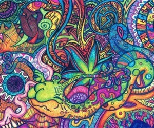 colors, weed, and colorful image