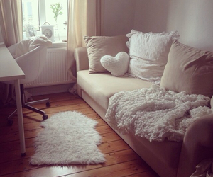 bed, big, and white image